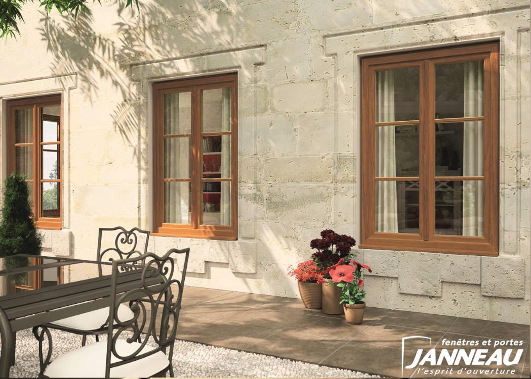 Installation de fenêtres en imitation bois